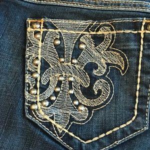 Ariat Turquoise Dark Wash Jeans